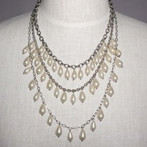 Talbot's 3 Tiered Statement Necklace